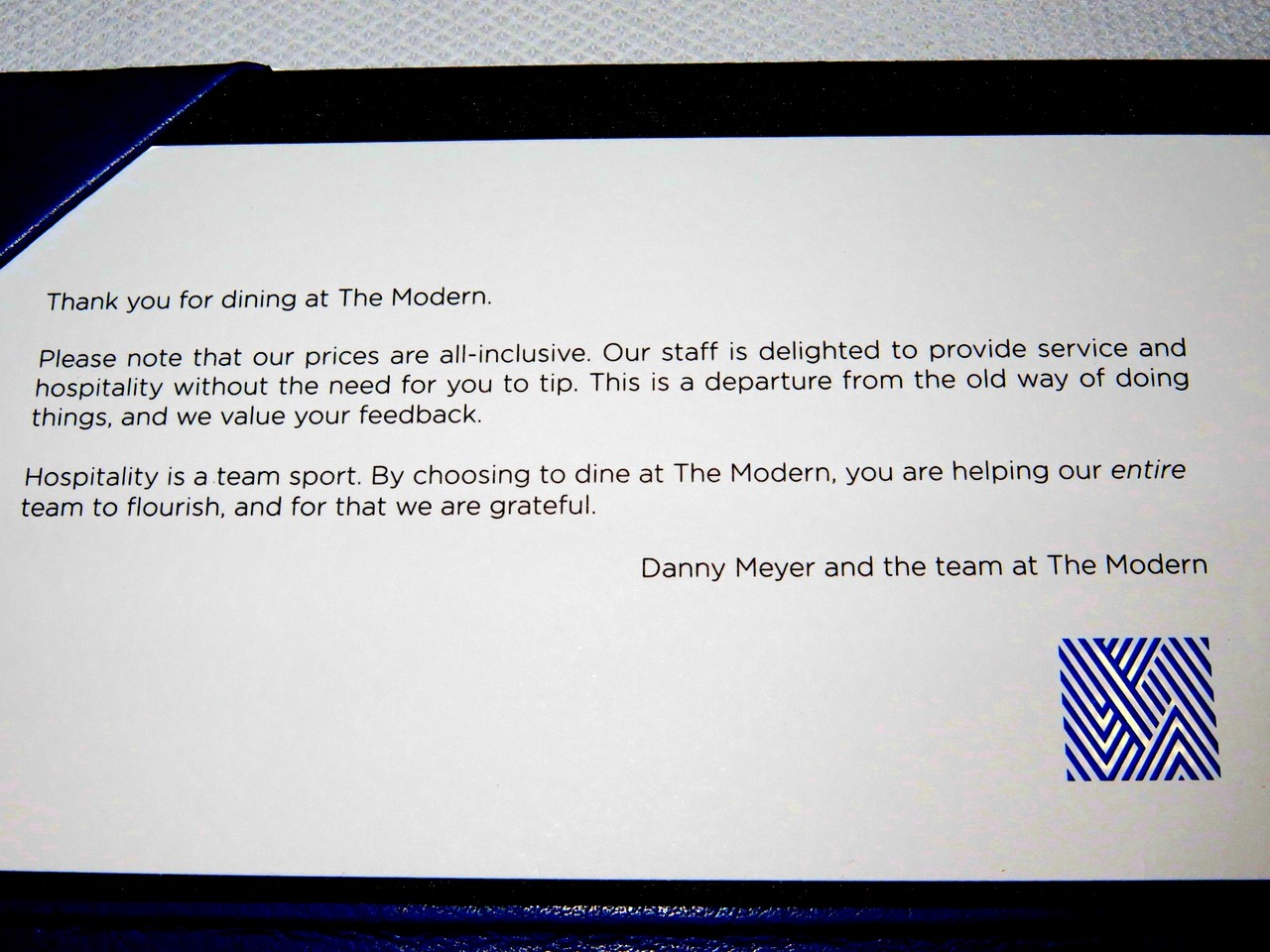 Mensagem de Danny Meyer