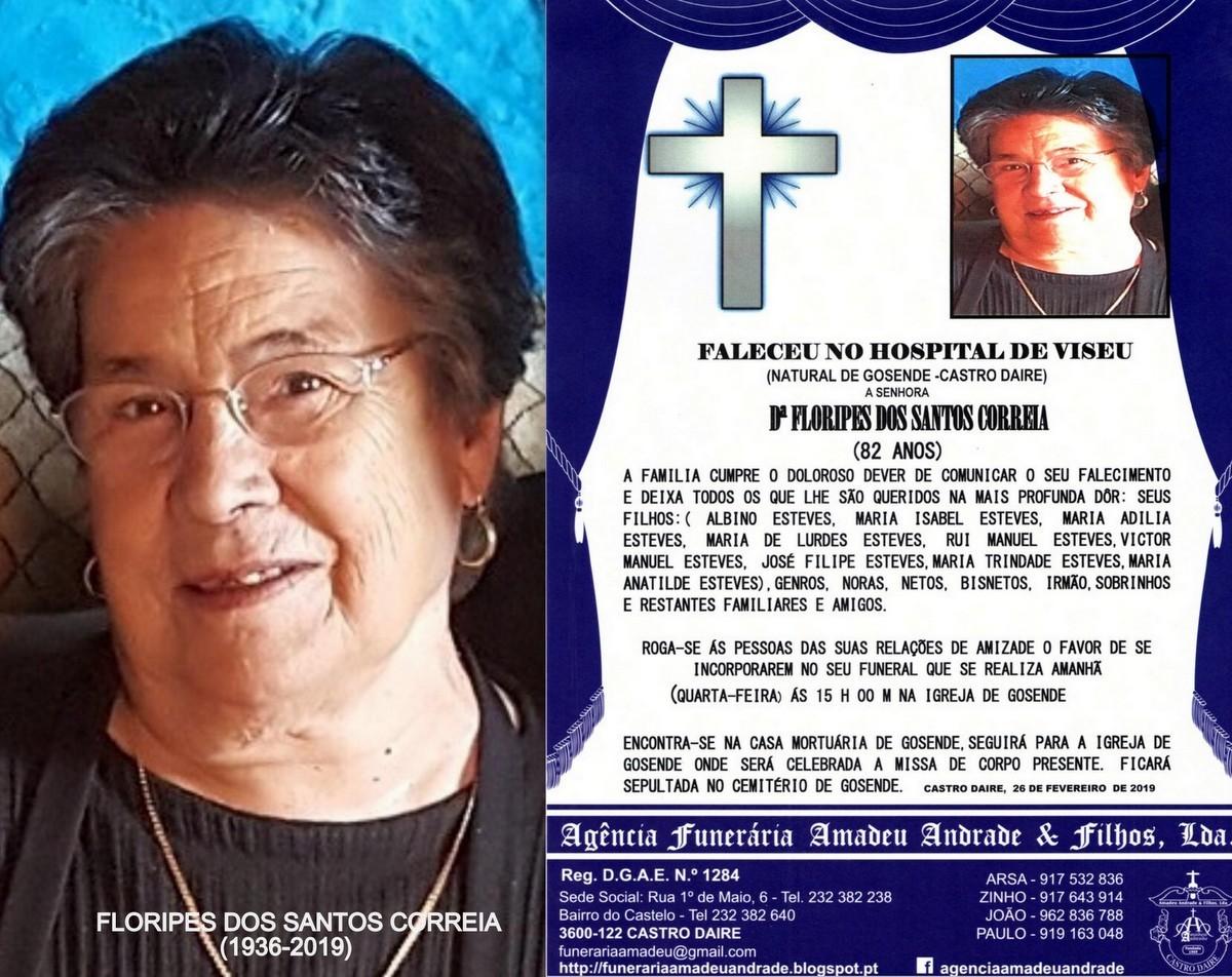 RIP-FOTO DE FLORIPES DOS SANTOS CORREIA -82 ANOS (