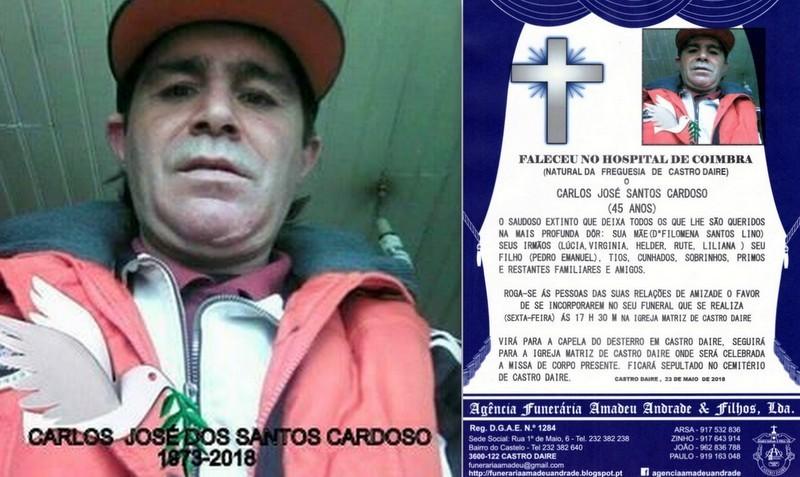 FOTO RIP- -CARLOS JOSÉ DOS SANTOS CARDOSO  -45 AN