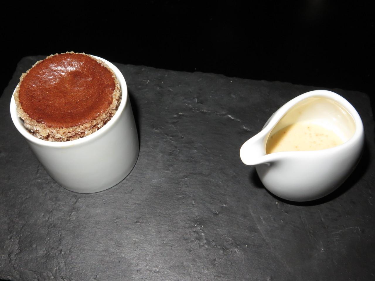 Soufflé de chocolate negro...