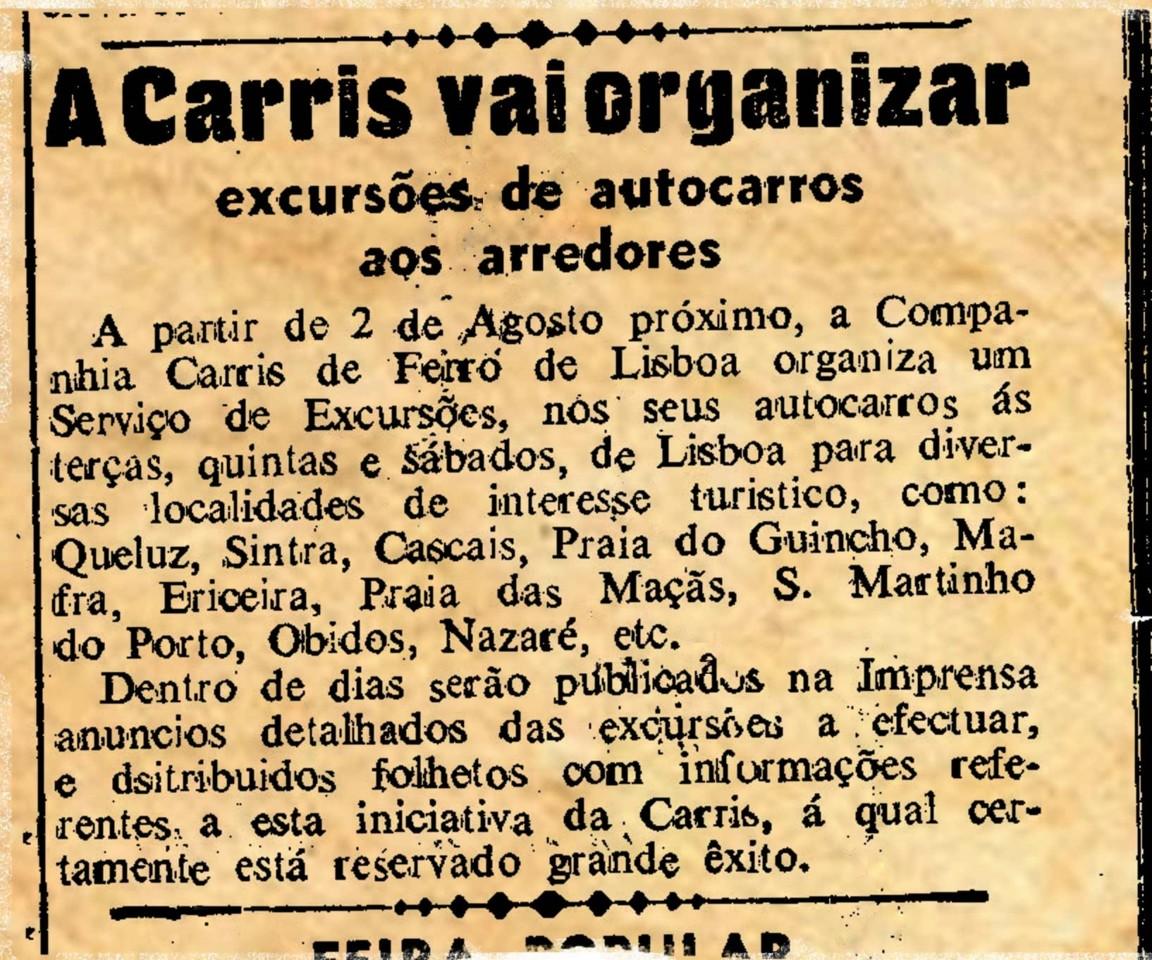 A Carris vai organizar…-(Diário de Lisbôa, 28/VII/1949)