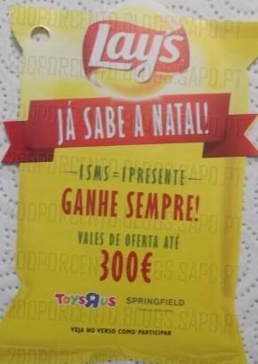 Campanha de Natal   MATUTANO / LAYS  , Vales até 300€
