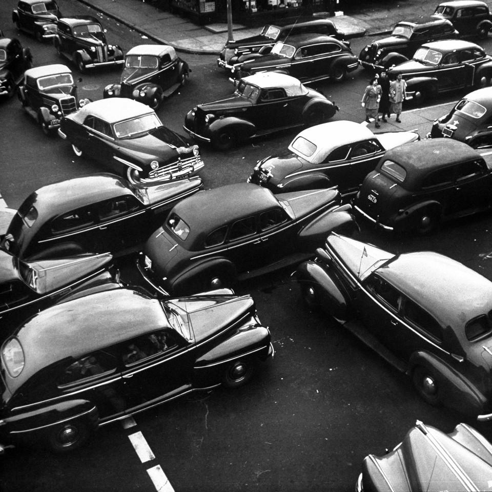 Traffic jam in New York City on Memorial Day Weeke