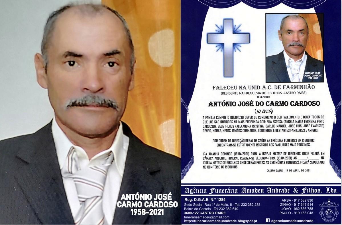 FOTO RIP  DE ANTÓNIO JOSÉ DO CARMO CARDOSO-62 AN