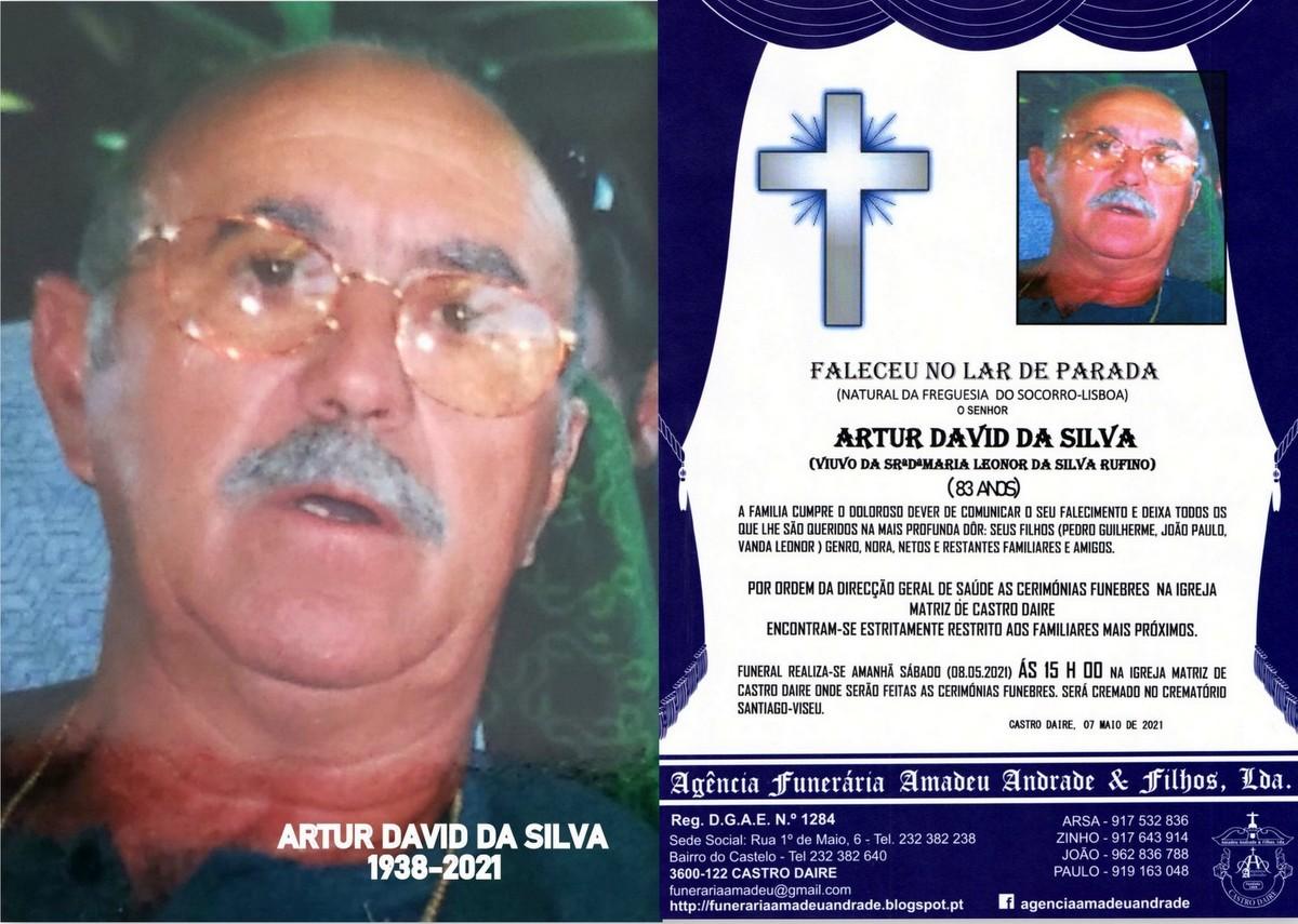 FOTO RIP DE ARTUR DAVID DA SILVA-83 ANOS (CASTRO D