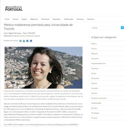Printscreen Excelência Portugal 18 de Maio 2015 -