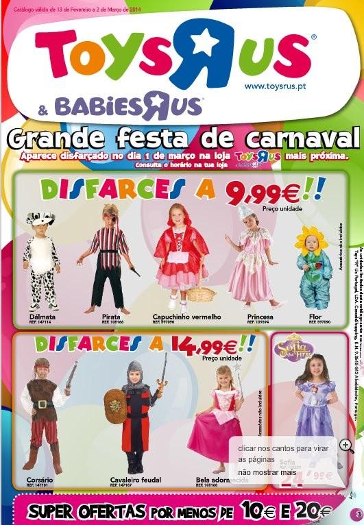 Folheto | TOYSRUS | Carnaval até 2 março