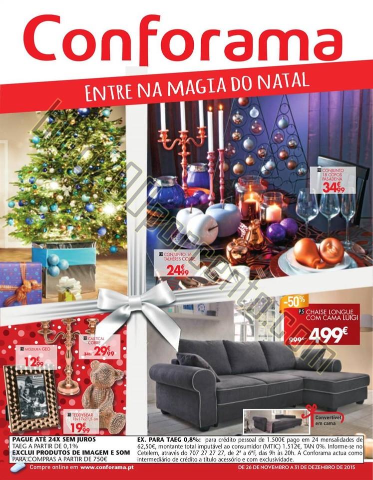 Antevisão Folheto CONFORAMA Natal de 26 novembro