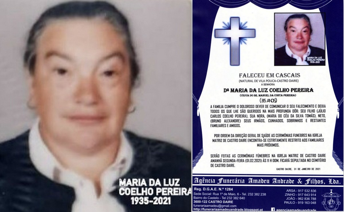 FOTO RIP DE MARIA DA LUZ COELHO PEREIRA-85 ANOS (V