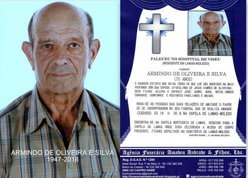 RIP FOTO -ARMINDO DE OLIVEIRA E SILVA-70 ANOS- LAM