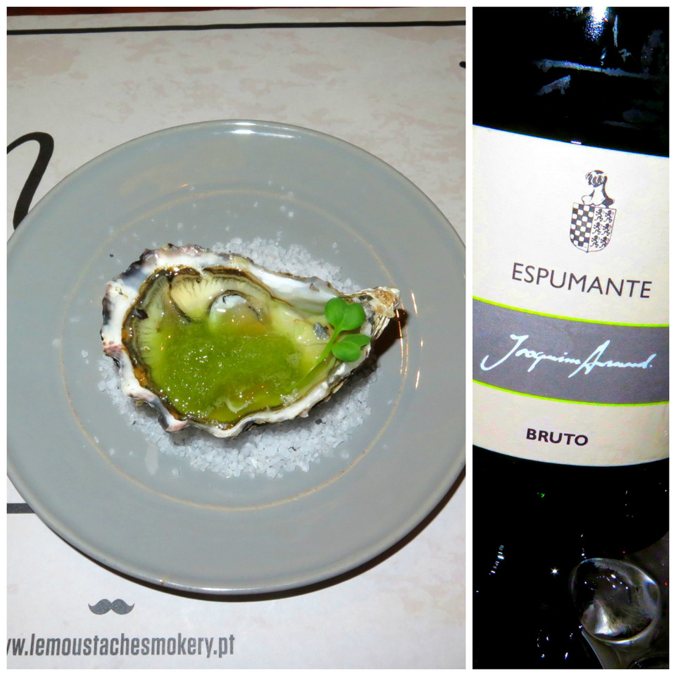 Granizado de aipo com ostra picante / Joaquim Arnaud Chardonnay 2008