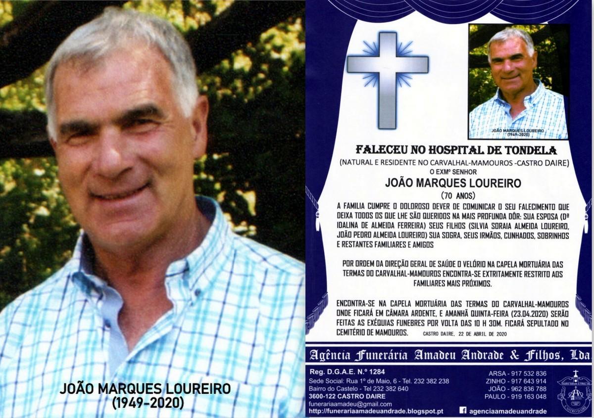 FOTO RIP DE JOÃO MARQUES LOUREIRO-70 ANOS(CARVALH
