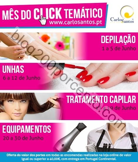 Calendário de promoções CARLOS SANTOS HS de 1 a