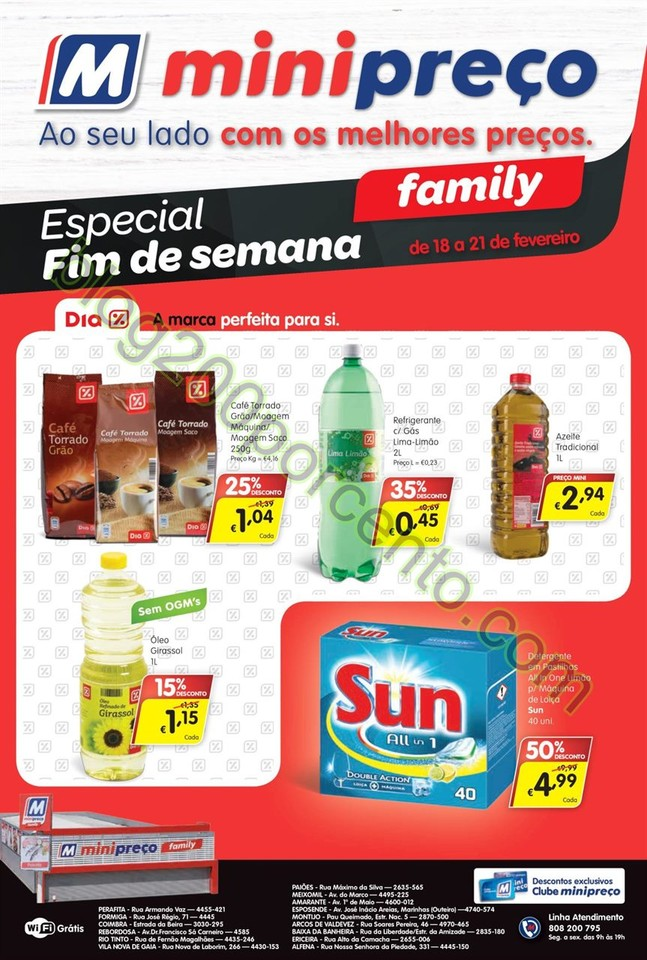 Antevisão Folheto MINIPREÇO Family de 18 a 24 fe