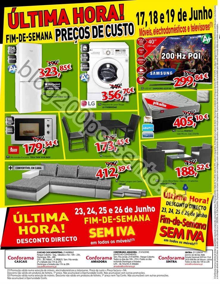 Novo Folheto CONFORAMA Promoções de 16 a 30  jun