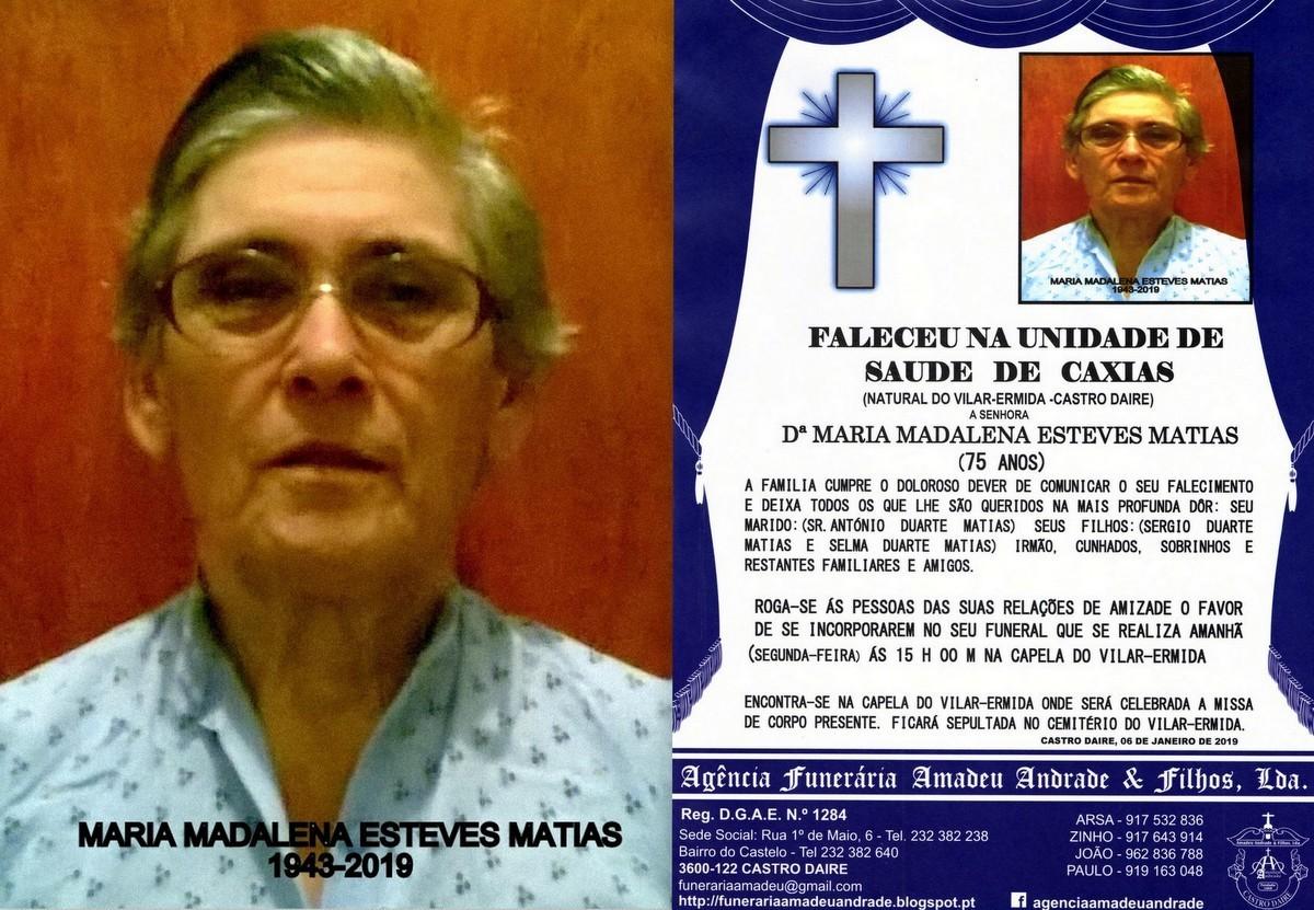FOTO RIP- DE MARIA MADALENA ESTEVES MATIAS -75 ANO