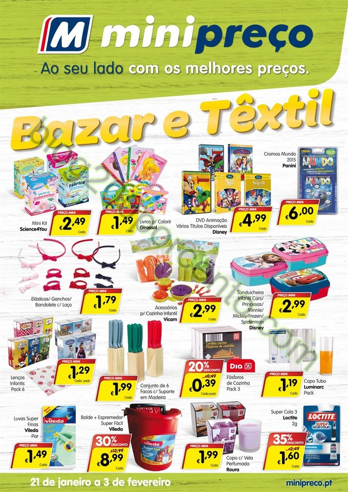 Novo Folheto MINIPREÇO Bazar promoções de 21 ja