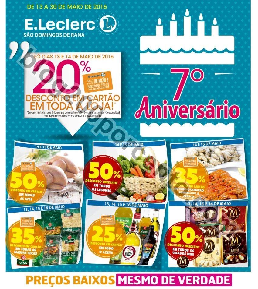 Antevisão Folheto E-LECLERC Aniversário Rana de