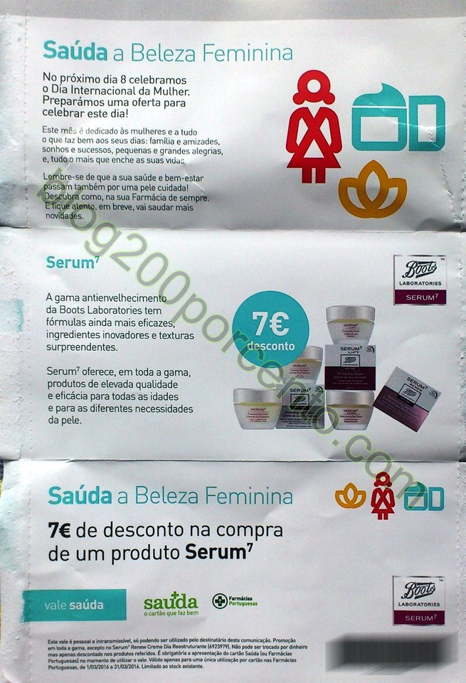 vale 7€ Farmácias Portuguesas - Cartão Saúda.
