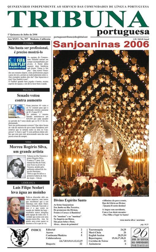Capa Tribuna Portuguesa de julho 2006