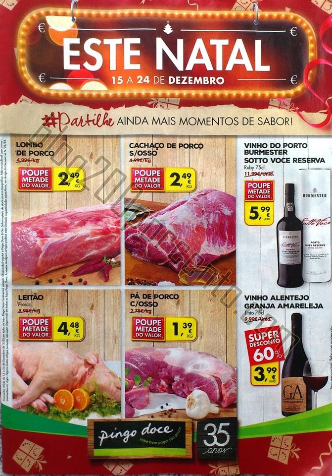 Antevisão Folheto PINGO DOCE Semana Natal promoç