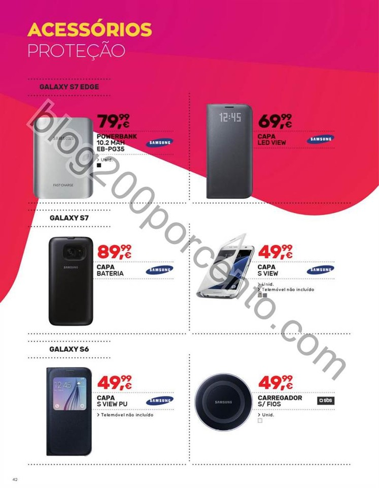Antevisão Folheto WORTEN Mobile promoções de 7