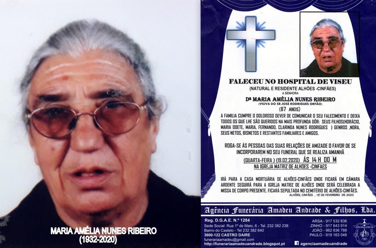 FOTO RIP DE MARIA AMÉLIA NUNES RIBEIRO-87 ANOS (A