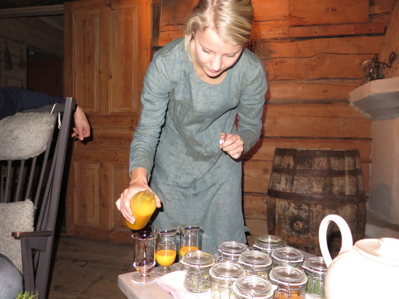 Duck egg yolk liqueur