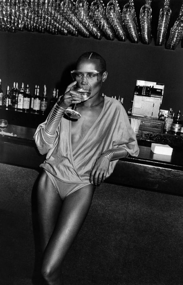 Grace Jones at Studio 54 photographed by Adrian Bo