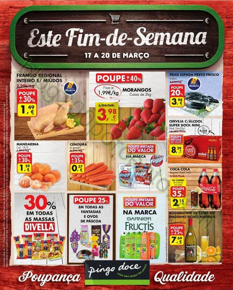 Novo Folheto PINGO DOCE Madeira Fim de seman de 17