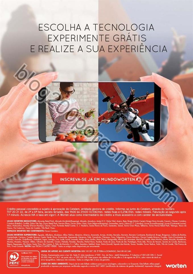 Antevisão Folheto WORTEN Mobilidade de 14 julho a