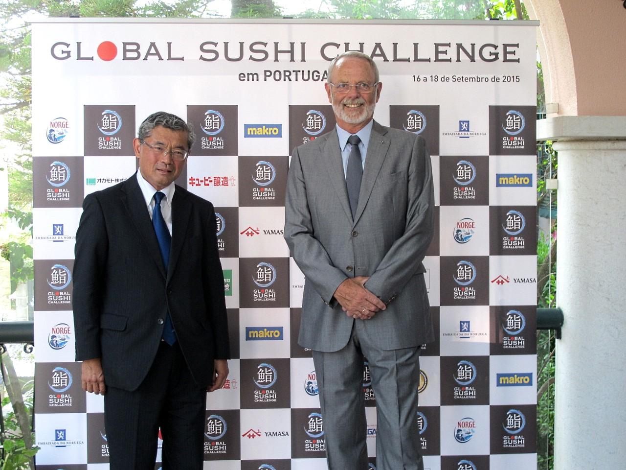 Embaixadores do Japão e da Noruega... em Portugal