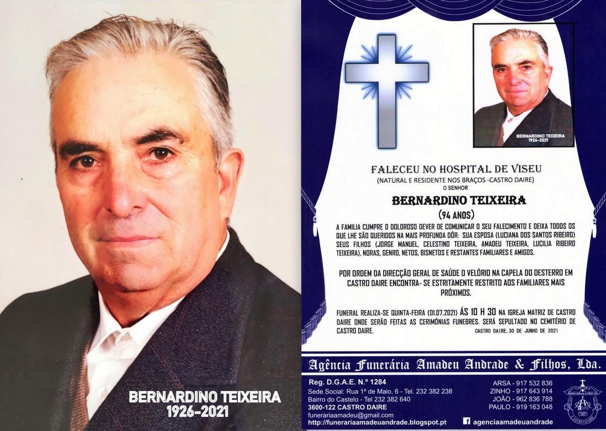 FOTO RIP DE BERNARDINO TEIXEIRA -94 ANOS (CASTRO D