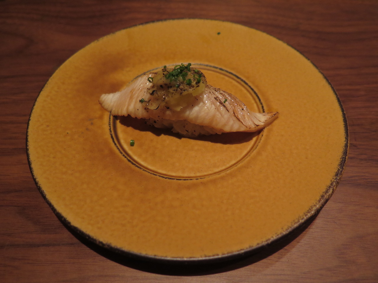 HAMACHI banana pepper mousse