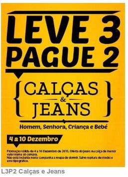 Leve 3 pague 2   CODE / PINGO DOCE   Calças e Jeans, de 4 a 10 dezembro