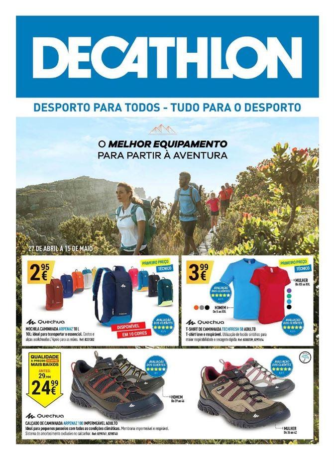 4bec0718c Novo Folheto Decathlon - Promoções até 15 maio - Oportunidades e Descontos   Promoções