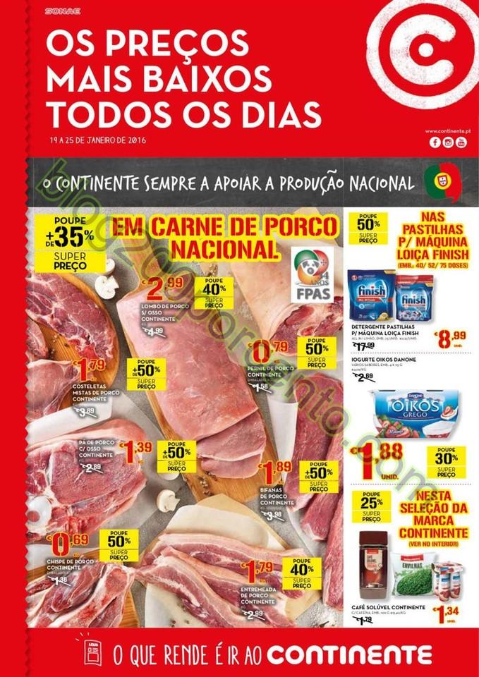 Antevisão Folheto CONTINENTE Promoções de 19 a