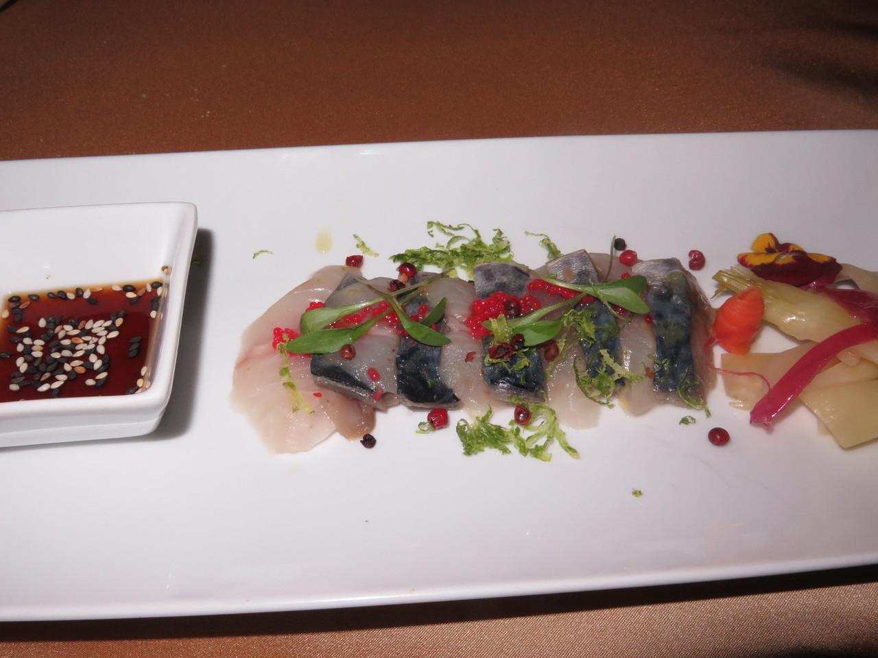 Ceviche de robalinho & sashimi de cavala