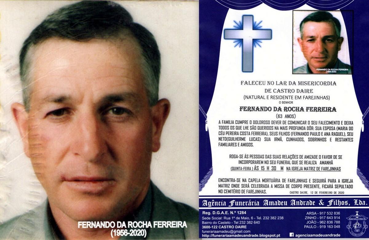 FOTO RIP  DE FERNANDO DA ROCHA FERRREIRA-63 ANOS (