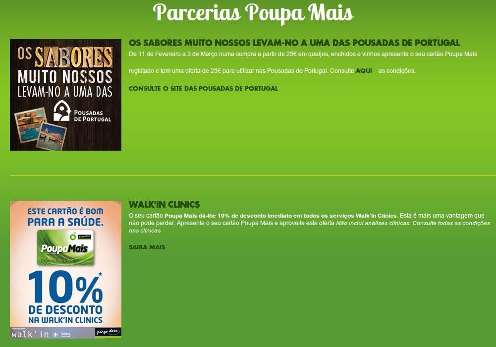 Parcerias   PINGO DOCE   Cartão Poupa mais
