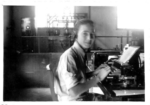 Aprendiz radiotelegrafista 1945