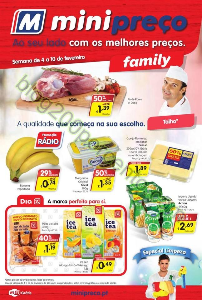 Antevisão Folheto MINIPREÇO Family  promoções