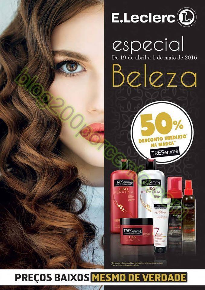 Antevisão Folheto E-LECLERC Especial Beleza de 19