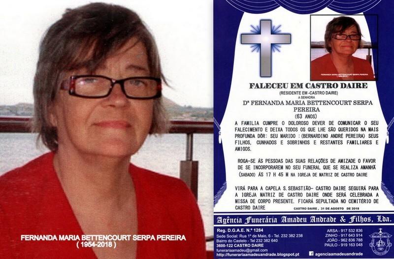FOTO DE FERNANDA MARIA BETTENCOURT SERPA PEREIRA -