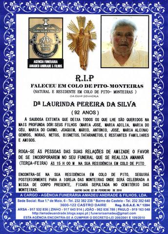 RIP- DE LAURINDA PEREIRA DA SILVA-92 ANOS (2).jpg