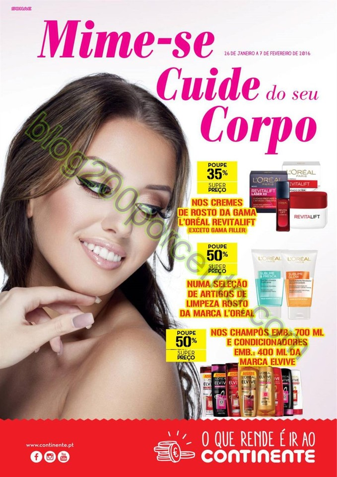 Antevisão Folheto CONTINENTE Beleza promoções d