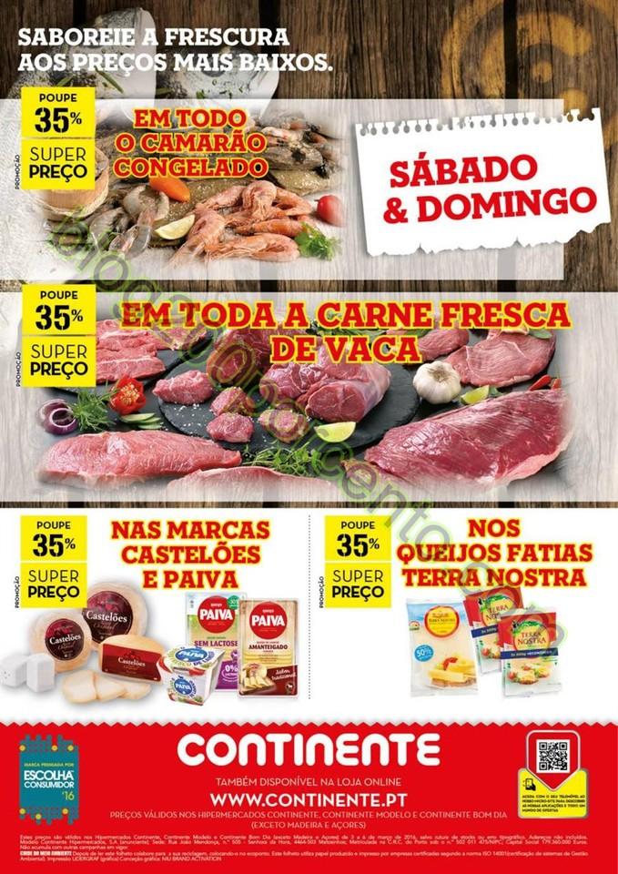 Antevisão Folheto CONTINENTE Fim de semana de 3 a