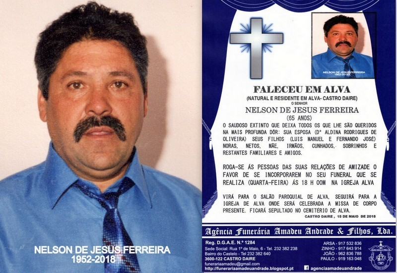 RIP FOTO DE NELSON DE JESUS FERREIRA-65 ANOS (ALVA
