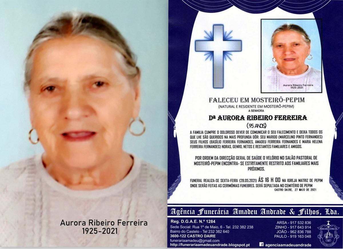 FOTO RIP  DE AURORA RIBEIRO FERREIRA-95 ANOS (MOST