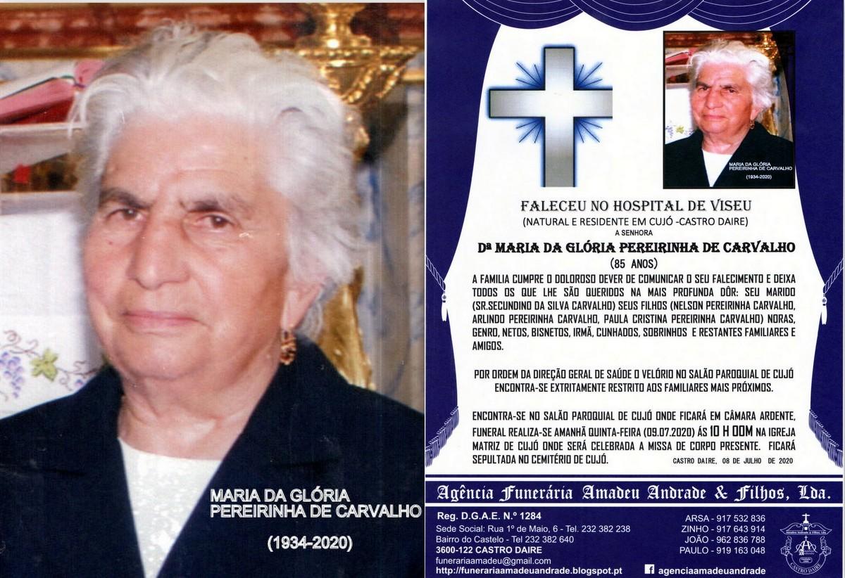 FOTO RIP DE MARIA DA GLÓRIA PEREIRINHA DE CARVALH
